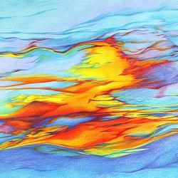 Kosmisches Leuchten - Kunstdruck