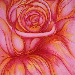 Die Rose - Kunstdruck