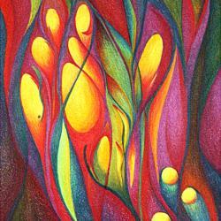 Gelbes Leuchten - Kunstdruck