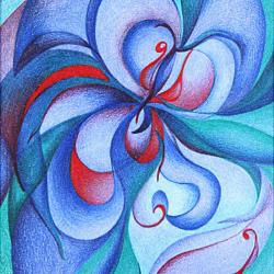 Blaue Entfaltung - Original Kunstwerk