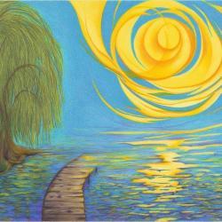 Ein Licht - Trauer Trost Hoffnung - Kunstdruck