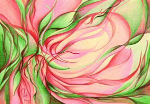 Magnolienblüteninspiration - Passepartout