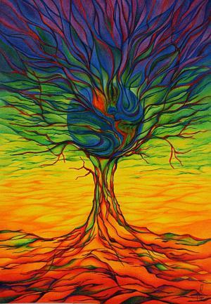 Lebensbaum-Erde - Passepartout