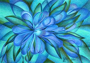 Blaue Blüte - Passepartout