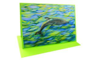 Träumender Delphin - Doppelkarte